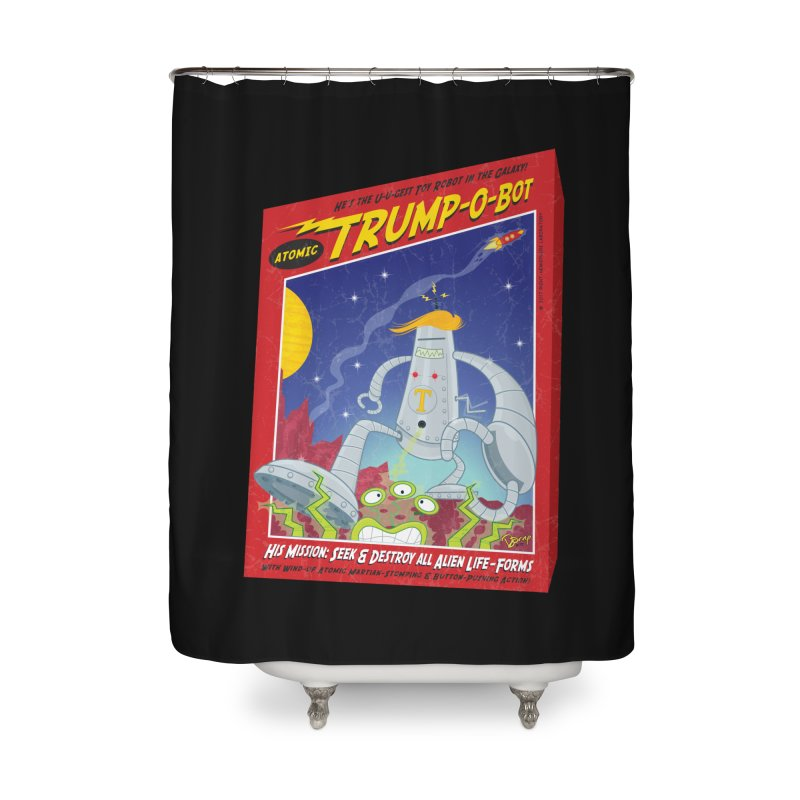 Trump-O-Bot Home Shower Curtain by righthemispherelaboratory's Shop