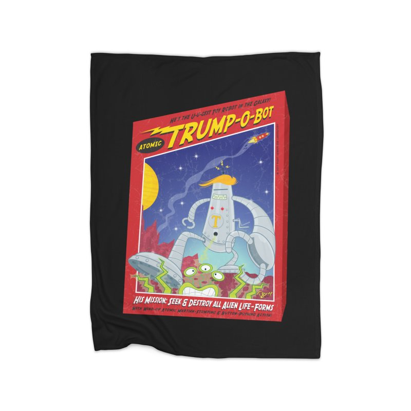 Trump-O-Bot Home Fleece Blanket Blanket by righthemispherelaboratory's Shop