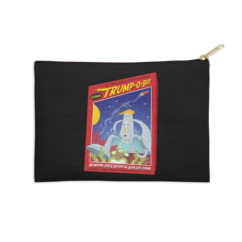 Trump-O-Bot Accessories Zip Pouch by righthemispherelaboratory's Shop