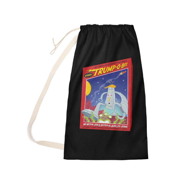 Trump-O-Bot Accessories Laundry Bag Bag by righthemispherelaboratory's Shop