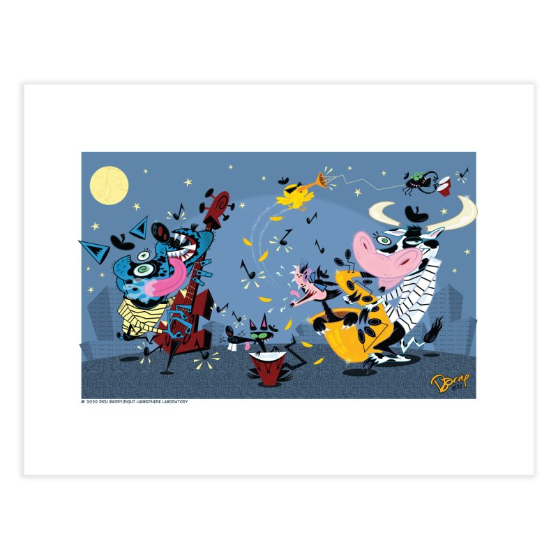 Back Alley Blues Home Fine Art Print by righthemispherelaboratory's Shop