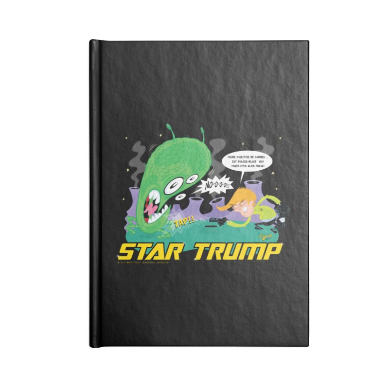Star Trump Accessories Blank Journal Notebook by righthemispherelaboratory's Shop