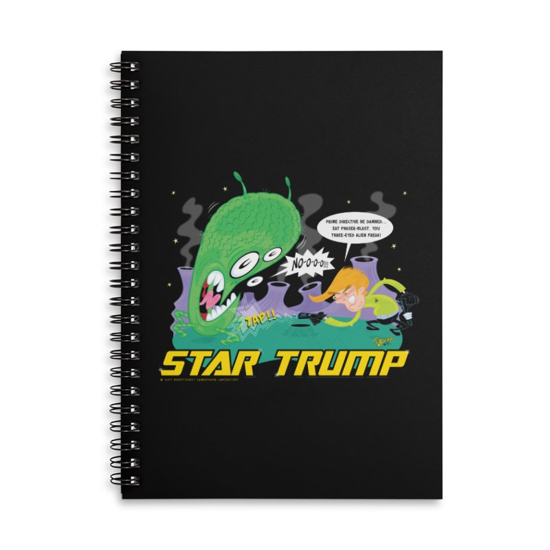 Star Trump Accessories Lined Spiral Notebook by righthemispherelaboratory's Shop