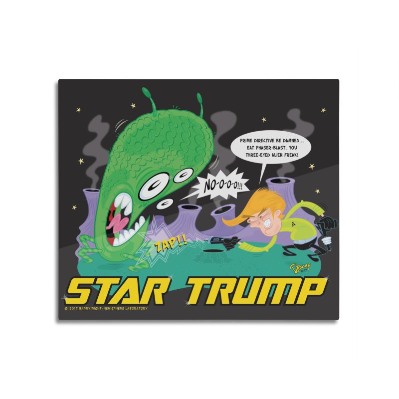 Star Trump Home Mounted Aluminum Print by righthemispherelaboratory's Shop