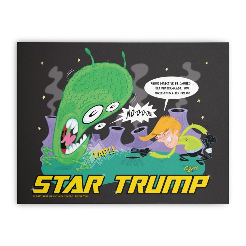 Star Trump Home Stretched Canvas by righthemispherelaboratory's Shop