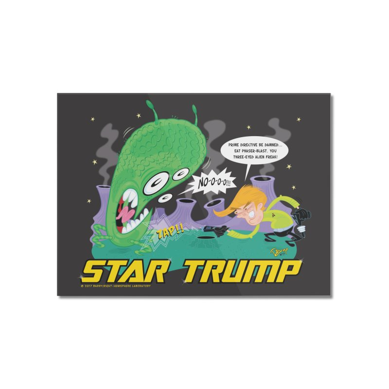 Star Trump Home Mounted Acrylic Print by righthemispherelaboratory's Shop