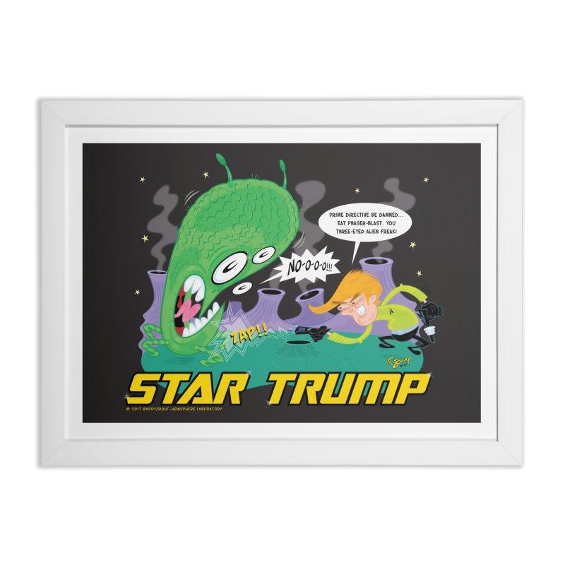 Star Trump Home Framed Fine Art Print by righthemispherelaboratory's Shop