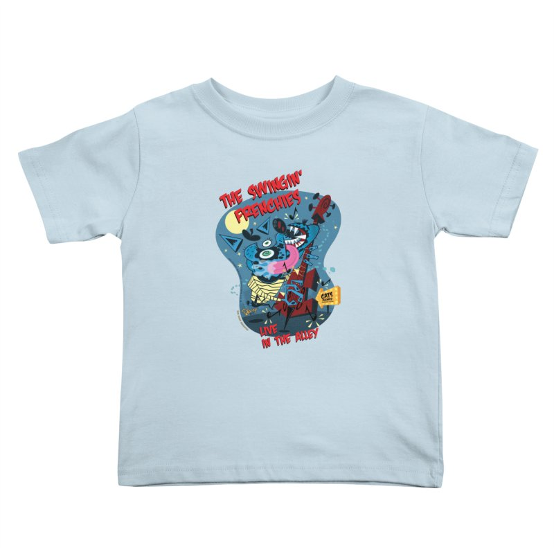 The Swingin' Frenchies Kids Toddler T-Shirt by righthemispherelaboratory's Shop