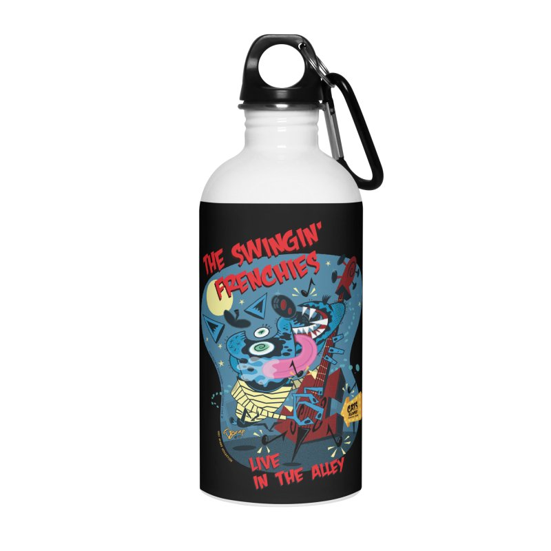 The Swingin' Frenchies Accessories Water Bottle by righthemispherelaboratory's Shop