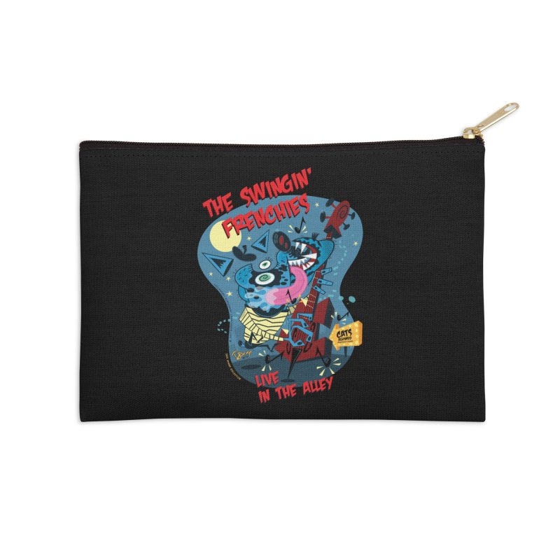 The Swingin' Frenchies Accessories Zip Pouch by righthemispherelaboratory's Shop