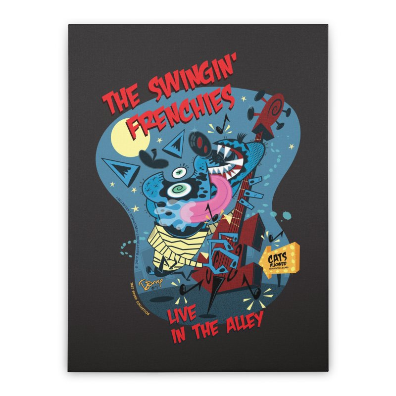 The Swingin' Frenchies Home Stretched Canvas by righthemispherelaboratory's Shop