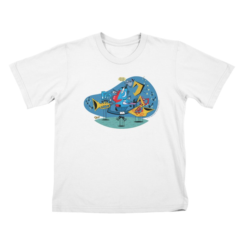 Trading Fours Kids T-Shirt by righthemispherelaboratory's Shop