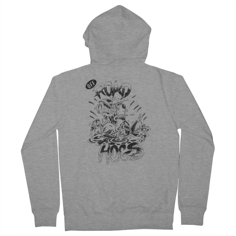 Off-Road Hogs Men's French Terry Zip-Up Hoody by righthemispherelaboratory's Shop