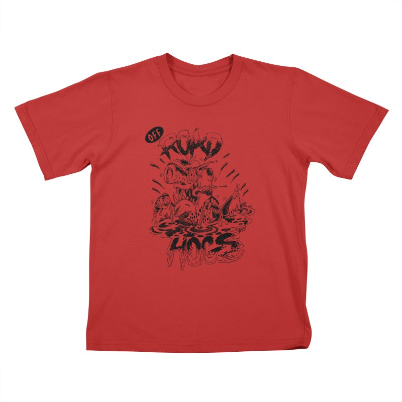 Off-Road Hogs Kids T-Shirt by righthemispherelaboratory's Shop