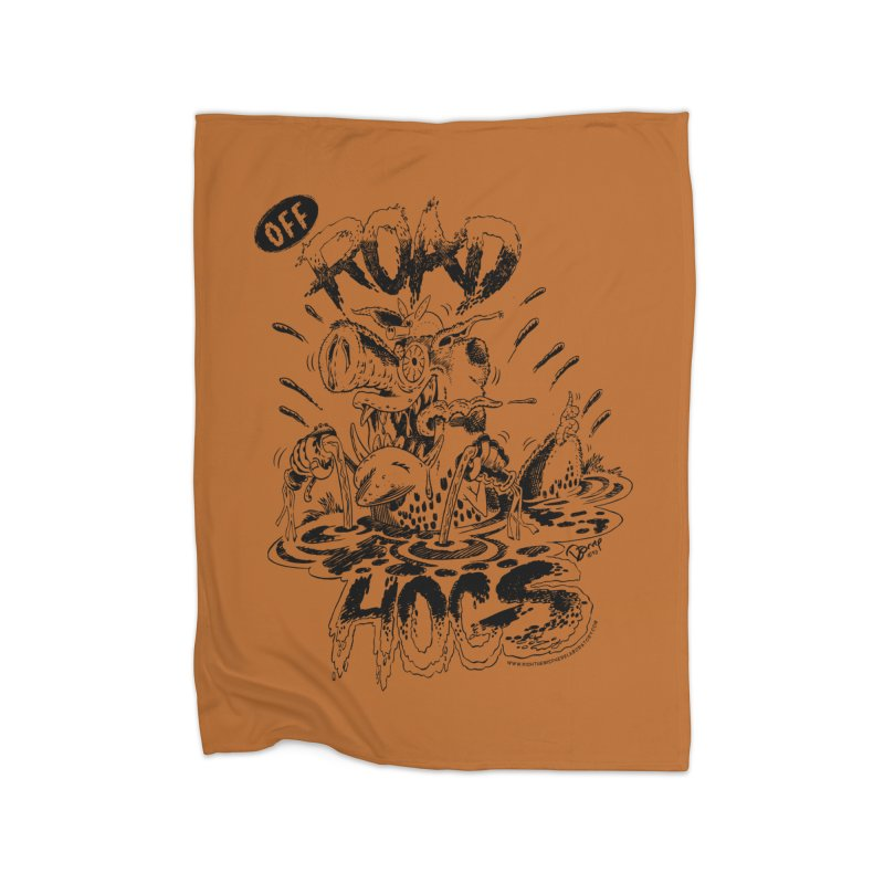 Off-Road Hogs Home Fleece Blanket Blanket by righthemispherelaboratory's Shop