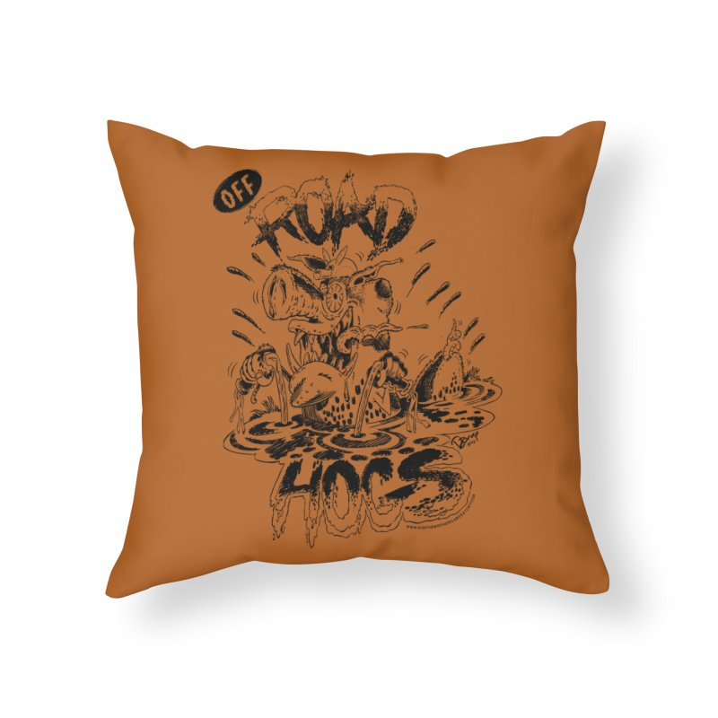 Off-Road Hogs Home Throw Pillow by righthemispherelaboratory's Shop