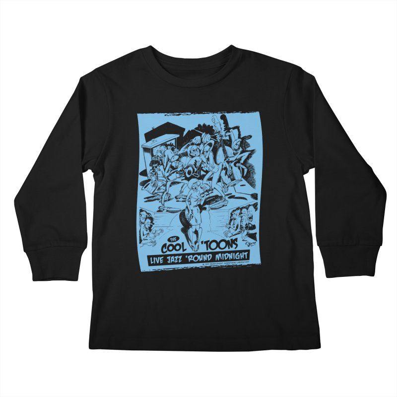 Cool 'Toons Kids Longsleeve T-Shirt by righthemispherelaboratory's Shop