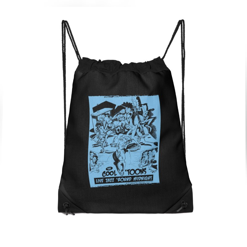 Cool 'Toons Accessories Drawstring Bag Bag by righthemispherelaboratory's Shop