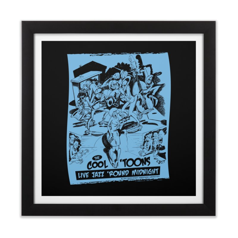 Cool 'Toons Home Framed Fine Art Print by righthemispherelaboratory's Shop