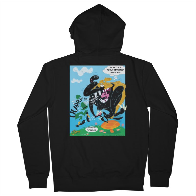 Honey Badger Gets Lucky Women's French Terry Zip-Up Hoody by righthemispherelaboratory's Shop