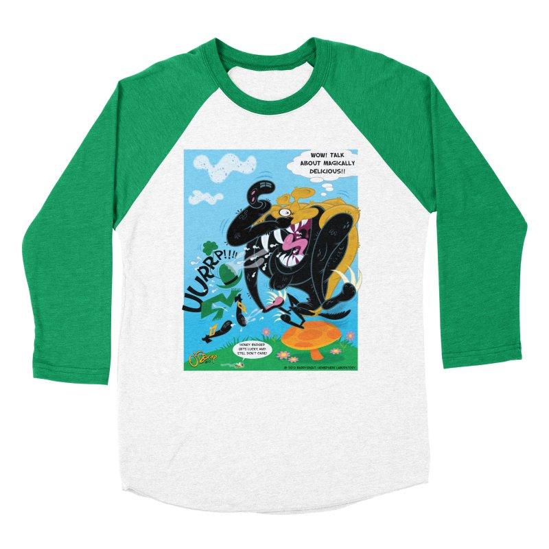 Honey Badger Gets Lucky Women's Baseball Triblend Longsleeve T-Shirt by righthemispherelaboratory's Shop