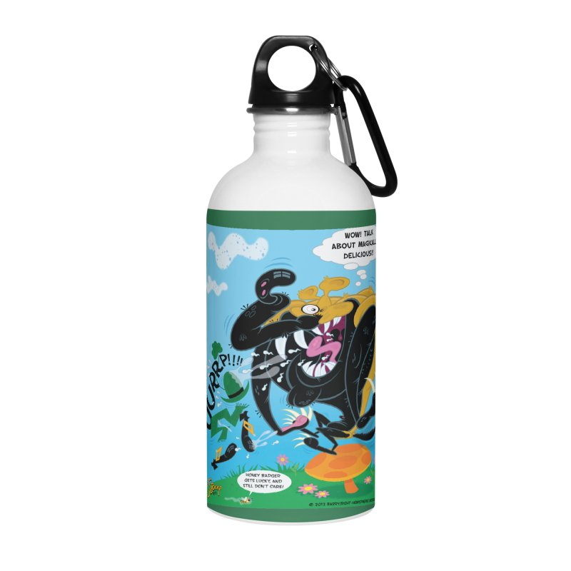 Honey Badger Gets Lucky Accessories Water Bottle by righthemispherelaboratory's Shop