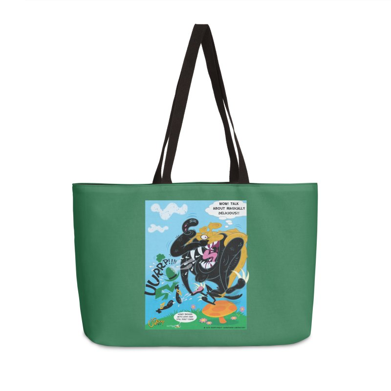 Honey Badger Gets Lucky Accessories Weekender Bag Bag by righthemispherelaboratory's Shop