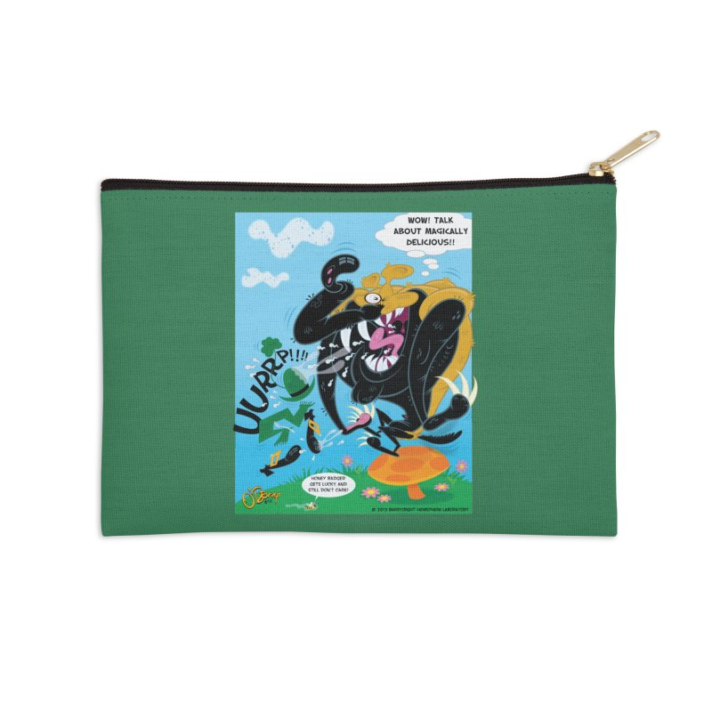 Honey Badger Gets Lucky Accessories Zip Pouch by righthemispherelaboratory's Shop