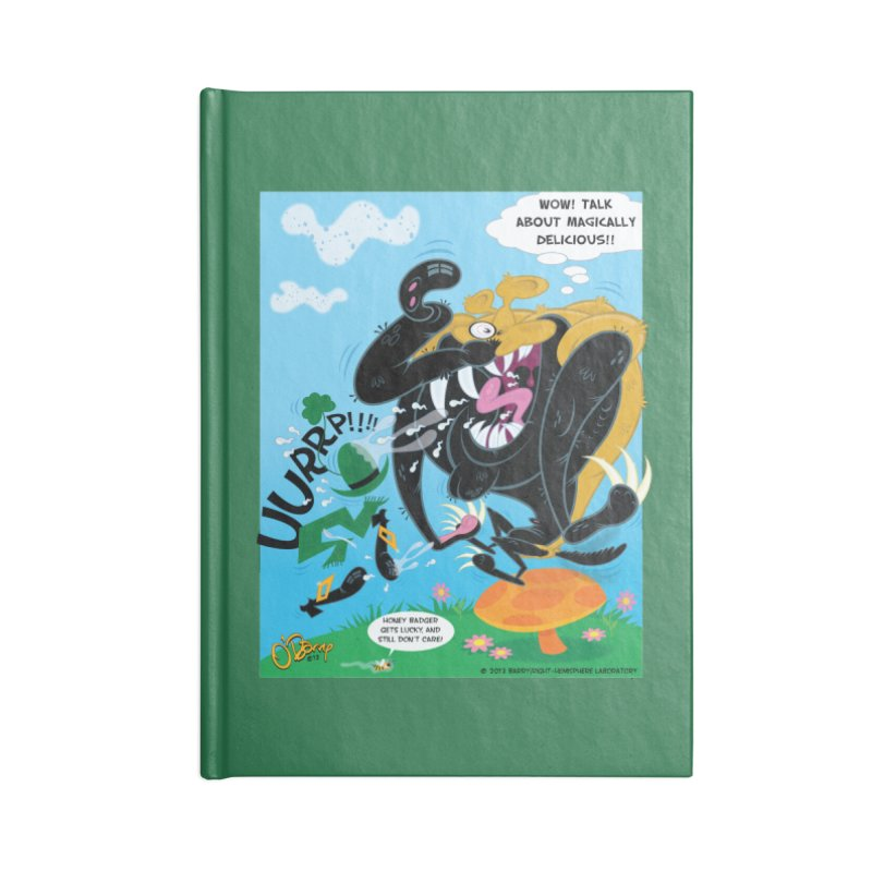 Honey Badger Gets Lucky Accessories Lined Journal Notebook by righthemispherelaboratory's Shop