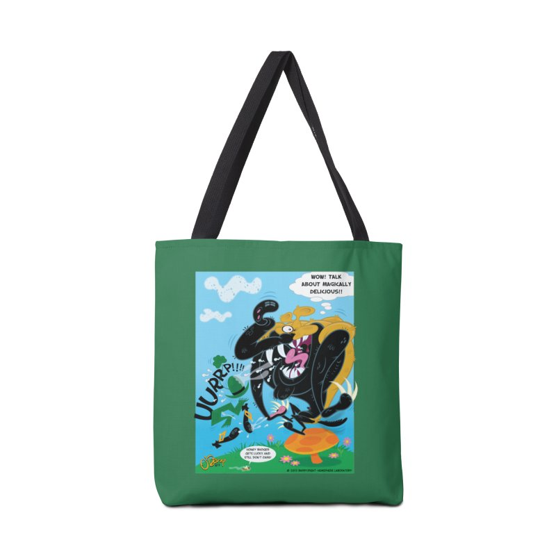 Honey Badger Gets Lucky Accessories Bag by righthemispherelaboratory's Shop