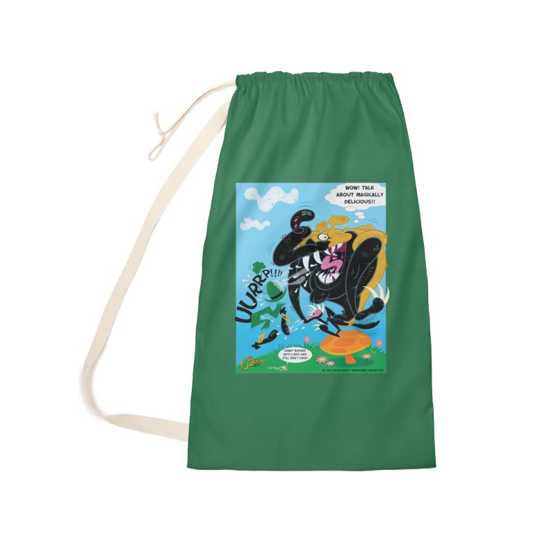 Honey Badger Gets Lucky Accessories Laundry Bag Bag by righthemispherelaboratory's Shop