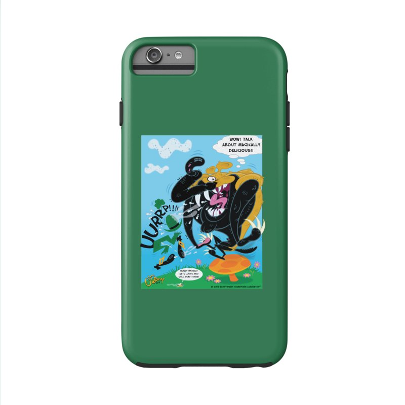Honey Badger Gets Lucky Accessories Phone Case by righthemispherelaboratory's Shop