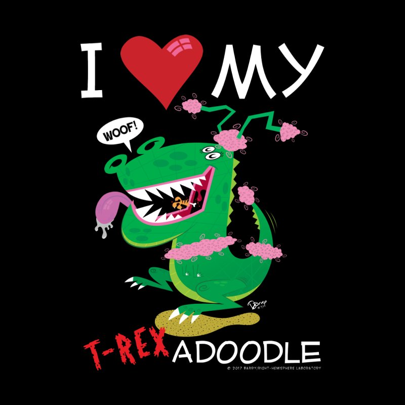 T-Rexadoodle Men's Zip-Up Hoody by righthemispherelaboratory's Shop