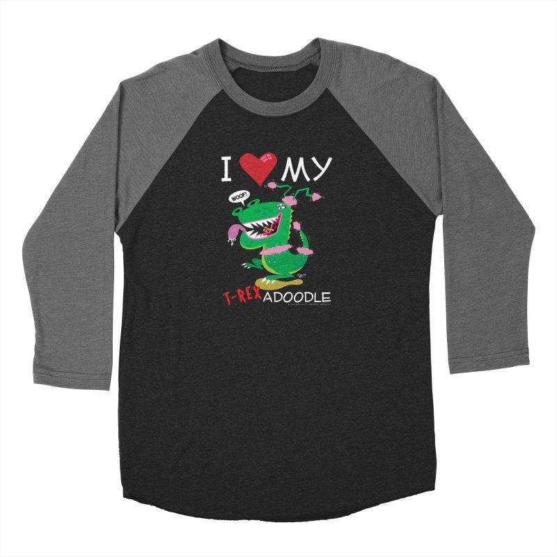 T-Rexadoodle Men's Baseball Triblend Longsleeve T-Shirt by righthemispherelaboratory's Shop