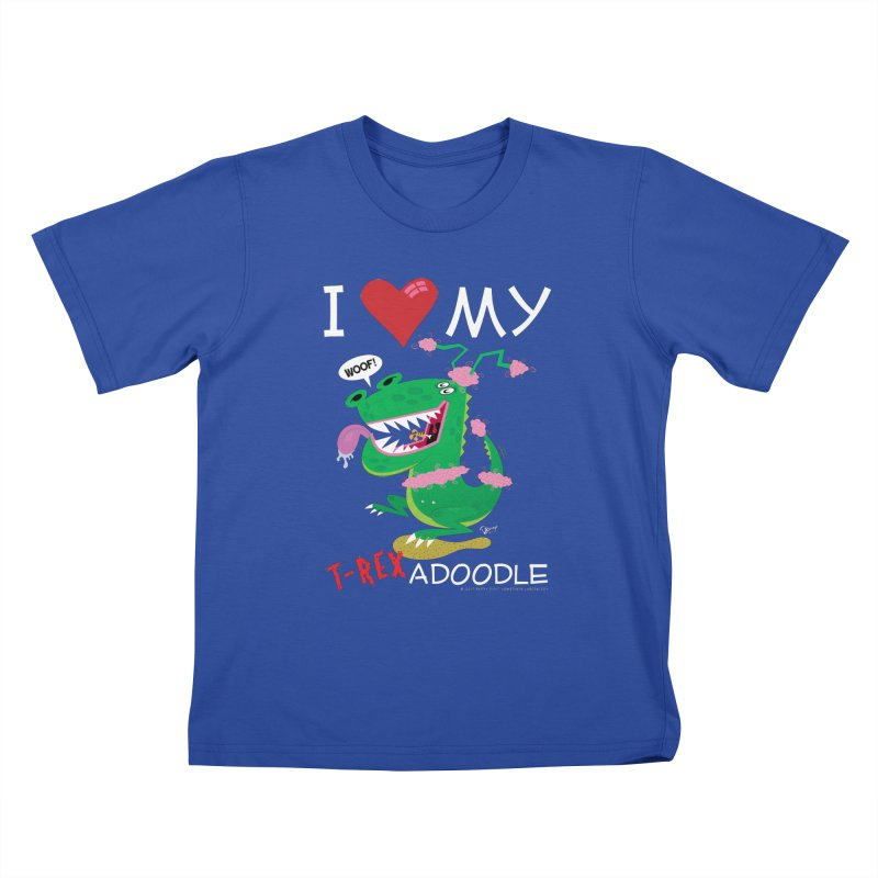 T-Rexadoodle Kids T-Shirt by righthemispherelaboratory's Shop