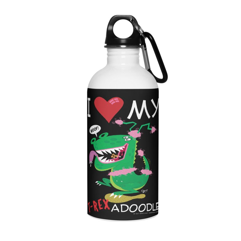 T-Rexadoodle Accessories Water Bottle by righthemispherelaboratory's Shop