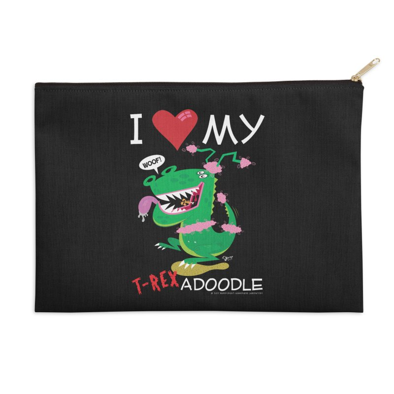 T-Rexadoodle Accessories Zip Pouch by righthemispherelaboratory's Shop
