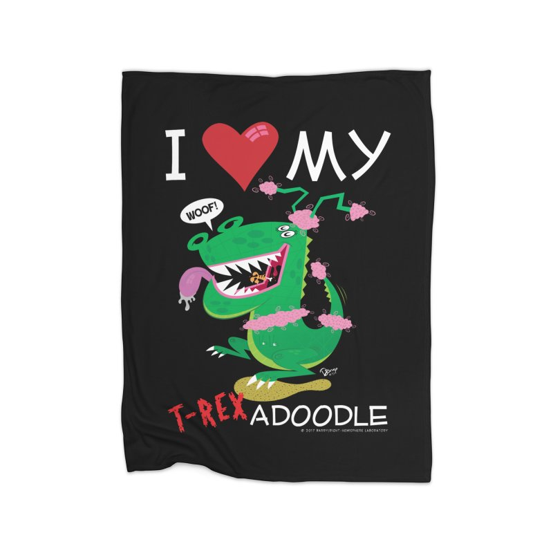 T-Rexadoodle Home Fleece Blanket Blanket by righthemispherelaboratory's Shop