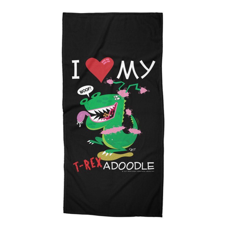 T-Rexadoodle Accessories Beach Towel by righthemispherelaboratory's Shop