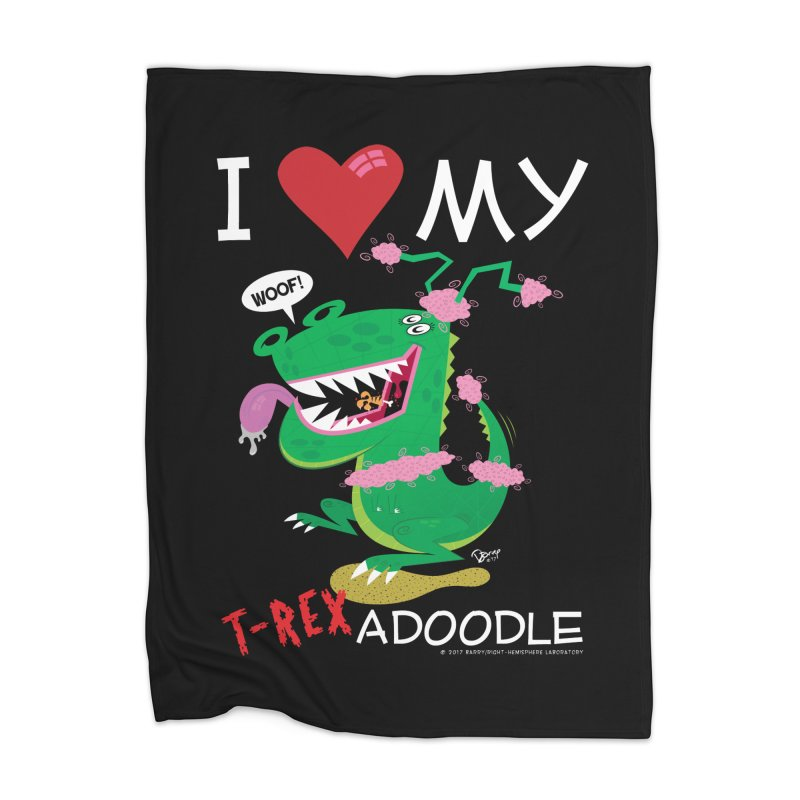 T-Rexadoodle Home Blanket by righthemispherelaboratory's Shop