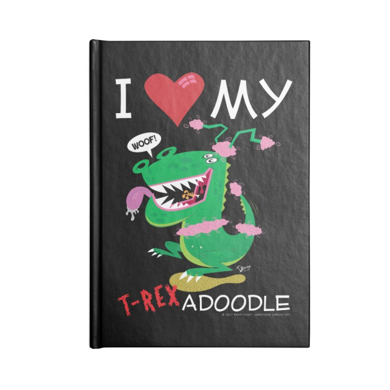 T-Rexadoodle Accessories Lined Journal Notebook by righthemispherelaboratory's Shop