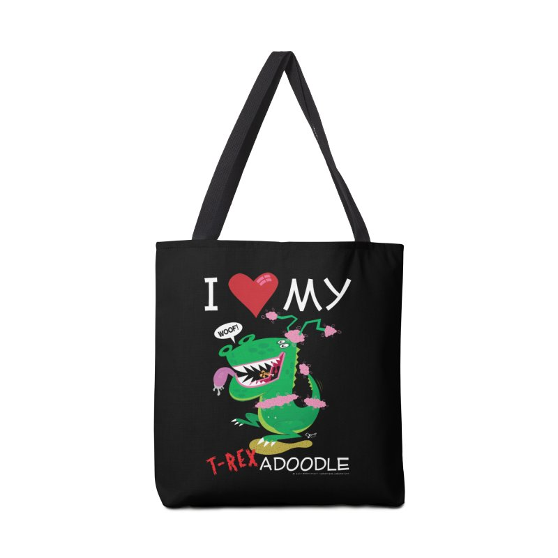 T-Rexadoodle Accessories Tote Bag Bag by righthemispherelaboratory's Shop