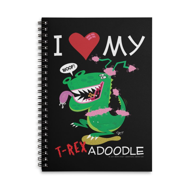 T-Rexadoodle Accessories Lined Spiral Notebook by righthemispherelaboratory's Shop
