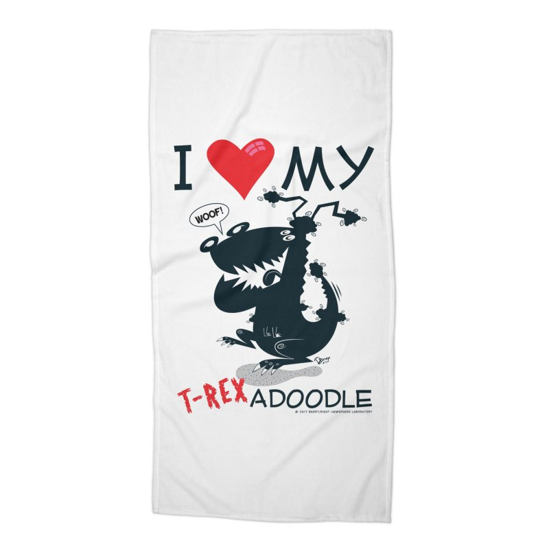 T-Rexadoodle Silhouette Accessories Beach Towel by righthemispherelaboratory's Shop