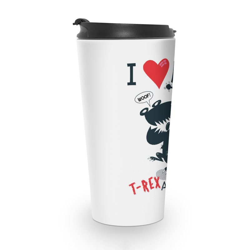 T-Rexadoodle Silhouette Accessories Mug by righthemispherelaboratory's Shop