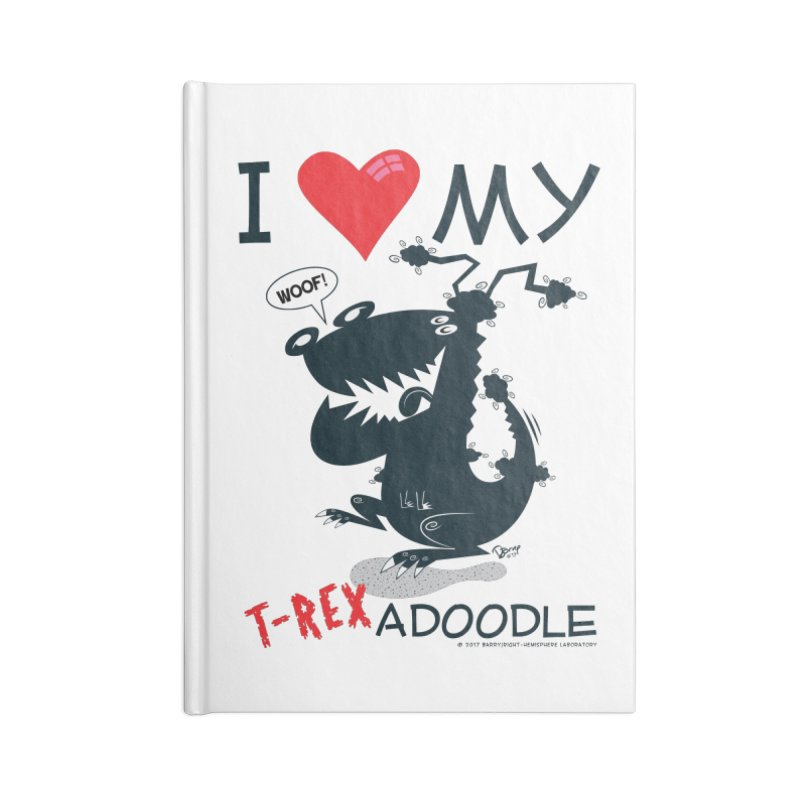 T-Rexadoodle Silhouette Accessories Blank Journal Notebook by righthemispherelaboratory's Shop