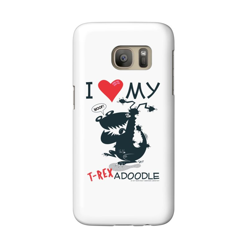 T-Rexadoodle Silhouette Accessories Phone Case by righthemispherelaboratory's Shop