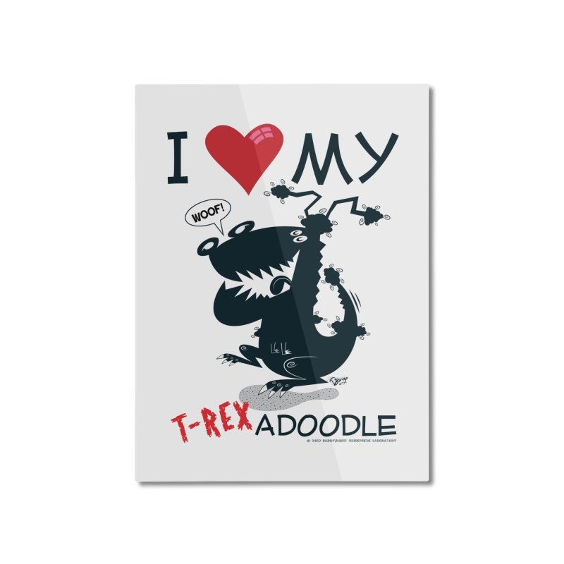 T-Rexadoodle Silhouette Home Mounted Aluminum Print by righthemispherelaboratory's Shop