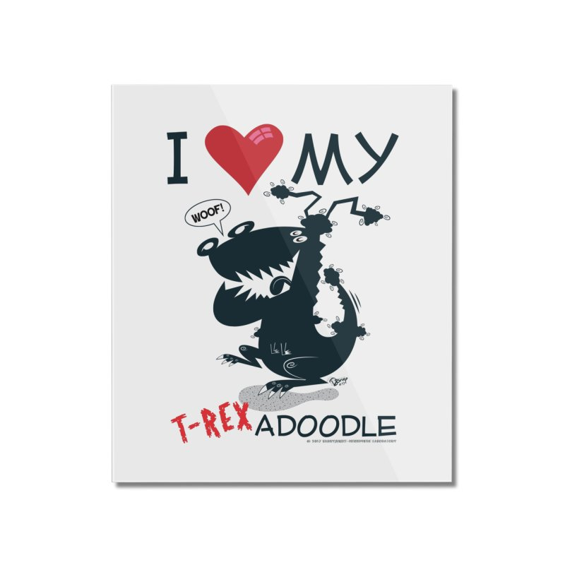 T-Rexadoodle Silhouette Home Mounted Acrylic Print by righthemispherelaboratory's Shop