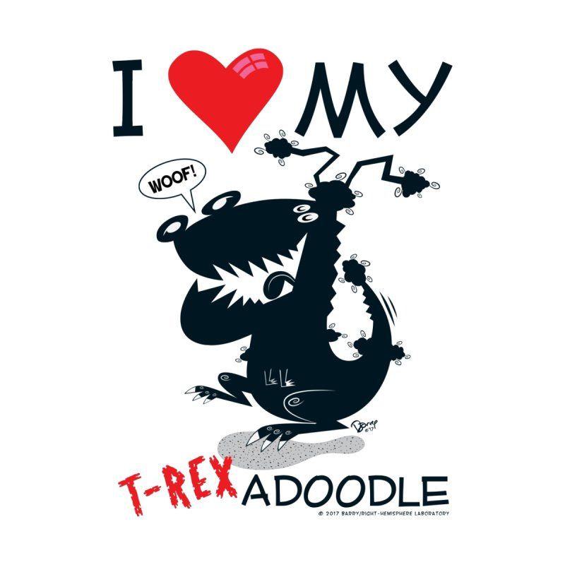 T-Rexadoodle Silhouette Kids T-Shirt by righthemispherelaboratory's Shop